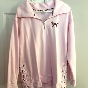 Victoria's Secret PINK sequin quarter zip!